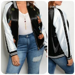 Jackets & Blazers - PLUS SIZE BLACK OFF WHITE  JACKET